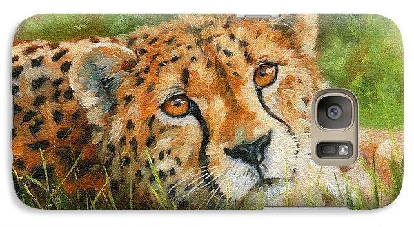 Cheetah Galaxy Case by David Stribbling