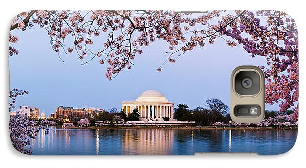 Cherry Blossom Tree With A Memorial Galaxy S7 Case by Panoramic Images