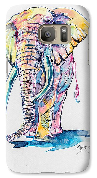 Colorful Elephant Galaxy Case by Kovacs Anna Brigitta