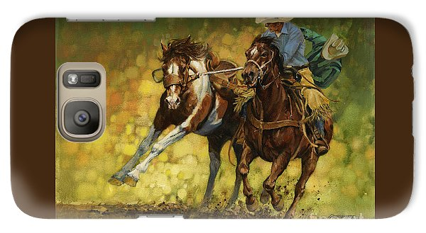 Rodeo Pickup Galaxy S7 Case by Don  Langeneckert