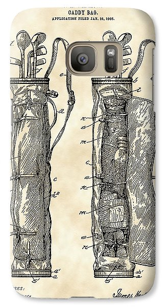 Golf Bag Patent 1905 - Vintage Galaxy S7 Case by Stephen Younts