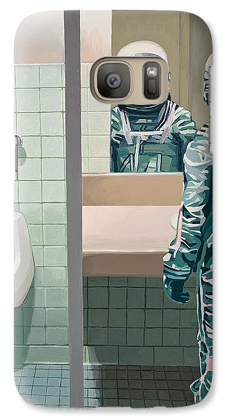 Men's Room Galaxy Case by Scott Listfield