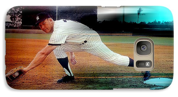 Mickey Mantle Galaxy Case by Marvin Blaine