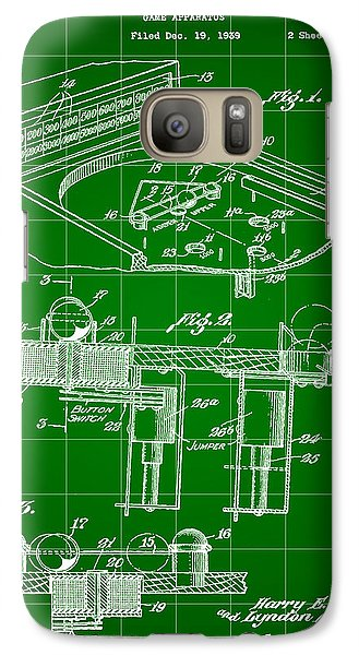 Pinball Machine Patent 1939 - Green Galaxy Case by Stephen Younts
