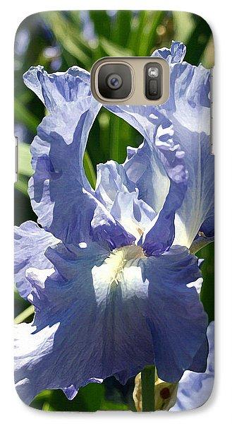 Purple Bearded Iris Galaxy S7 Case by Ellen Henneke