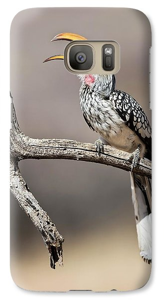 Southern Yellow-billed Hornbill Galaxy S7 Case by Tony Camacho