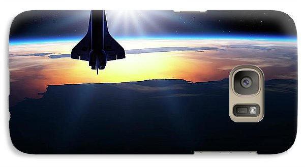 Space Shuttle In Orbit Galaxy S7 Case by Detlev Van Ravenswaay