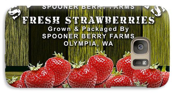 Strawberry Farm Galaxy Case by Marvin Blaine