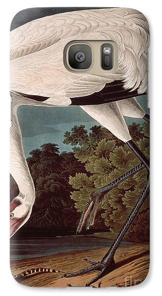 Whooping Crane Galaxy Case by John James Audubon