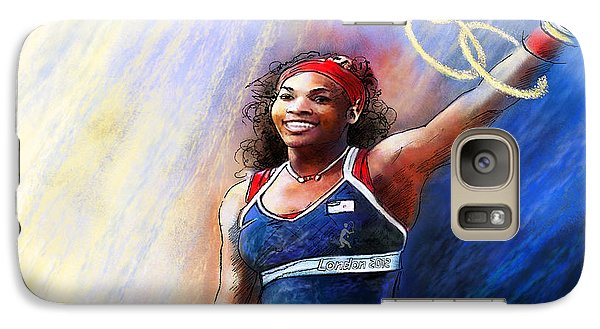 2012 Tennis Olympics Gold Medal Serena Williams Galaxy S7 Case by Miki De Goodaboom