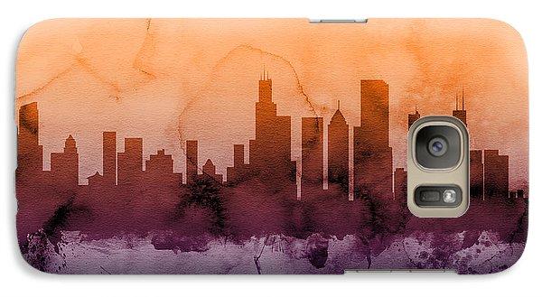 Chicago Illinois Skyline Galaxy Case by Michael Tompsett