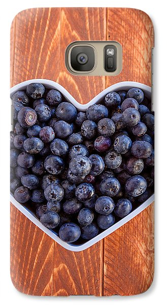 Fresh Picked Organic Blueberries Galaxy Case by Teri Virbickis