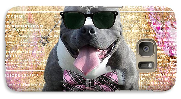 Pitbull Bowtie Collection Galaxy Case by Marvin Blaine