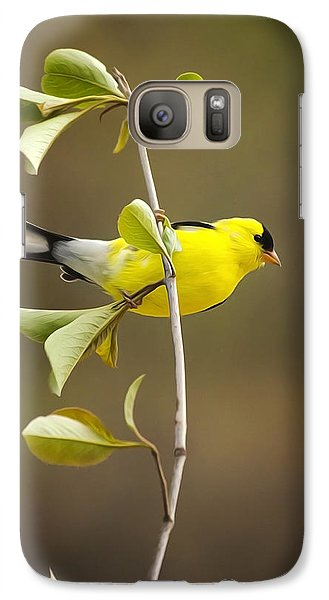 American Goldfinch Galaxy Case by Christina Rollo