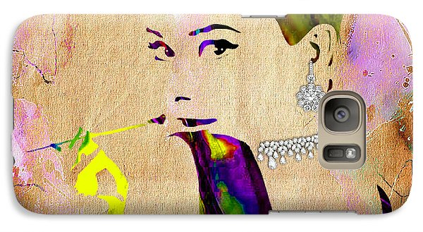 Audrey Hepburn Diamond Collection Galaxy Case by Marvin Blaine
