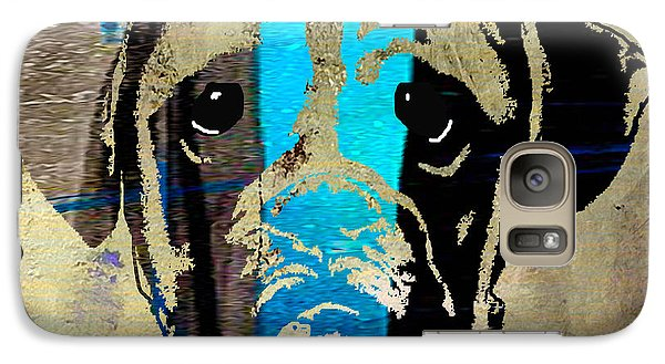 Boxer Galaxy Case by Marvin Blaine