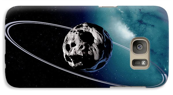 Chariklo Minor Planet And Rings Galaxy S7 Case by Detlev Van Ravenswaay