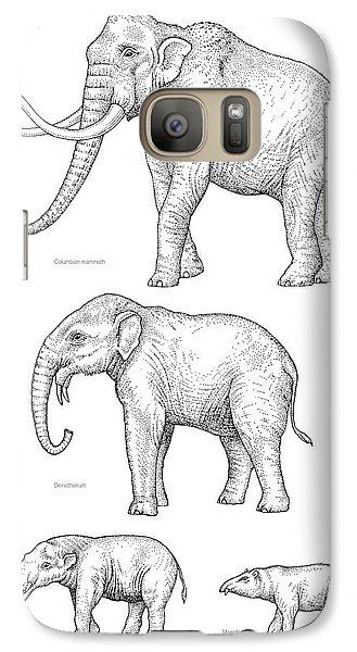 Elephant Evolution, Artwork Galaxy Case by Gary Hincks