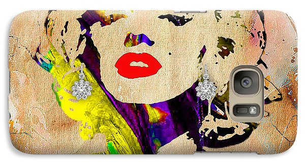 Marilyn Monroe Diamond Earring Collection Galaxy Case by Marvin Blaine