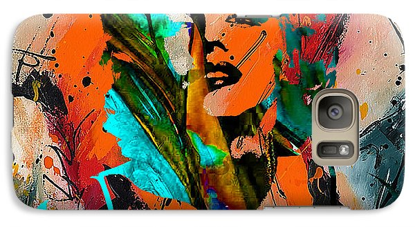 Marilyn Monroe Painting Galaxy Case by Marvin Blaine