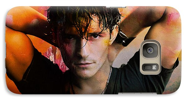 Orlando Bloom Galaxy Case by Marvin Blaine