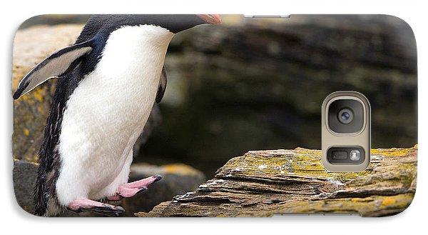 Rockhopper Penguin Galaxy Case by John Shaw