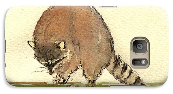 Raccoon Galaxy Case by Juan  Bosco