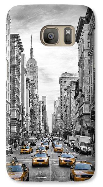 5th Avenue Yellow Cabs Galaxy S7 Case by Melanie Viola