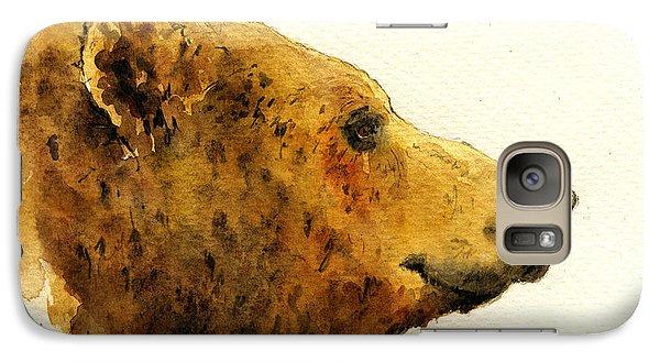 Grizzly Bear Galaxy S7 Case by Juan  Bosco
