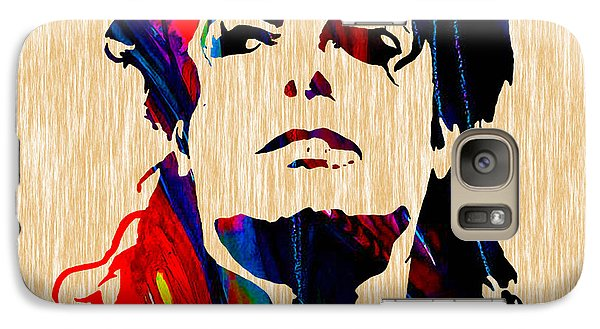 Michael Jackson Painting Galaxy Case by Marvin Blaine