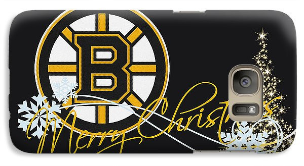 Boston Bruins Galaxy S7 Case by Joe Hamilton