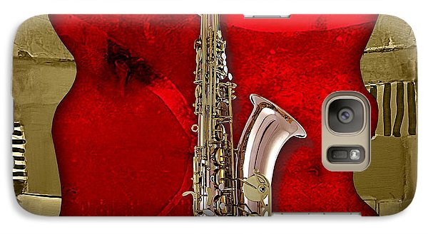 Saxophone Collection Galaxy Case by Marvin Blaine