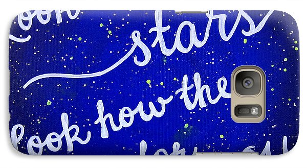 8x10 Look At The Stars Galaxy Case by Michelle Eshleman