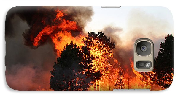 Galaxy Case featuring the photograph A Burst Of Flames From The White Draw Fire by Bill Gabbert