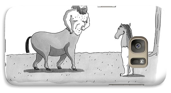 A Centaur Angrily Talks To A Creature Who Galaxy Case by Zachary Kanin