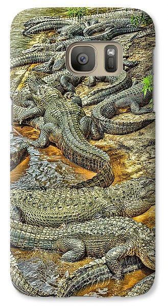 A Congregation Of Alligators Galaxy S7 Case by Rona Schwarz