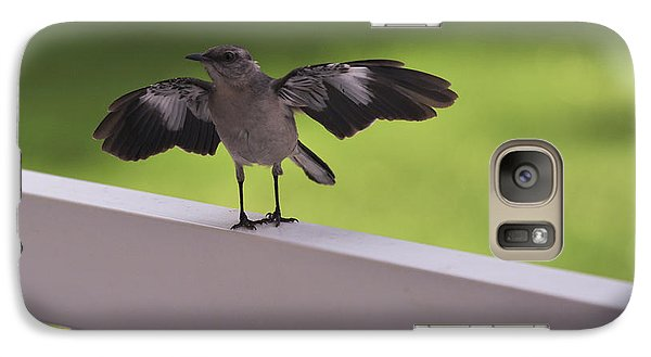 A Little Visitor Northern Mockingbird Galaxy S7 Case by Terry DeLuco