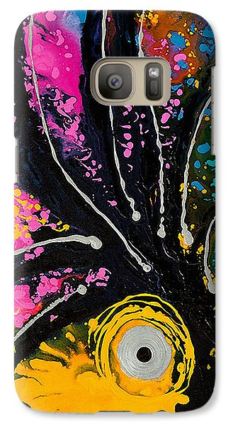 A Rare Bird - Tropical Parrot Art By Sharon Cummings Galaxy Case by Sharon Cummings