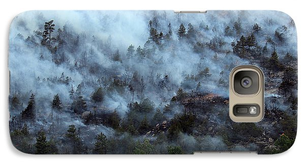 Galaxy Case featuring the photograph A Smoky Slope On White Draw Fire by Bill Gabbert