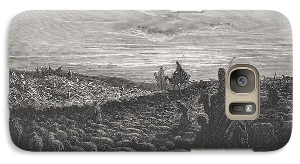 Abraham Journeying Into The Land Of Canaan Galaxy S7 Case by Gustave Dore