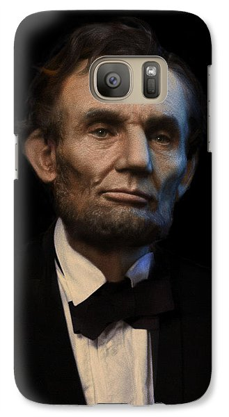 Abraham Lincoln Portrait Galaxy Case by Ray Downing