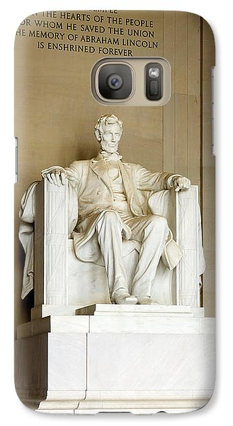 Abraham Lincolns Statue In A Memorial Galaxy S7 Case by Panoramic Images