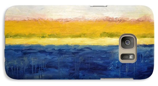 Abstract Dunes With Blue And Gold Galaxy S7 Case by Michelle Calkins