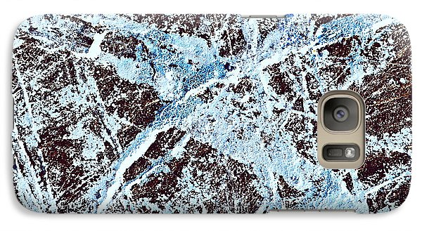 Abstract Scribble Pattern On Stone Galaxy Case by Jozef Jankola