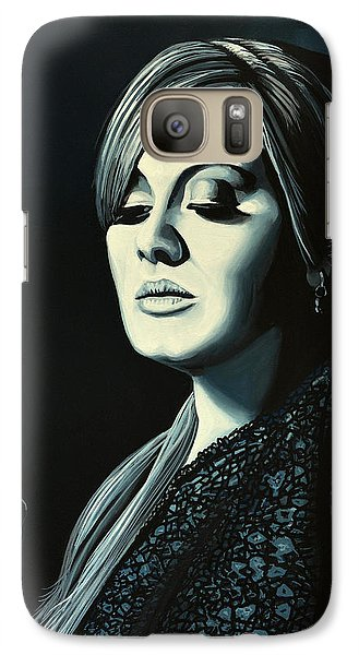 Adele Skyfall Painting Galaxy S7 Case by Paul Meijering