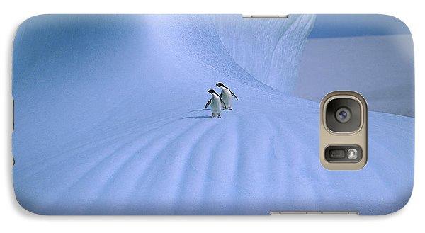 Adelie Penguins On Iceberg Antarctica Galaxy Case by Peter Sinden