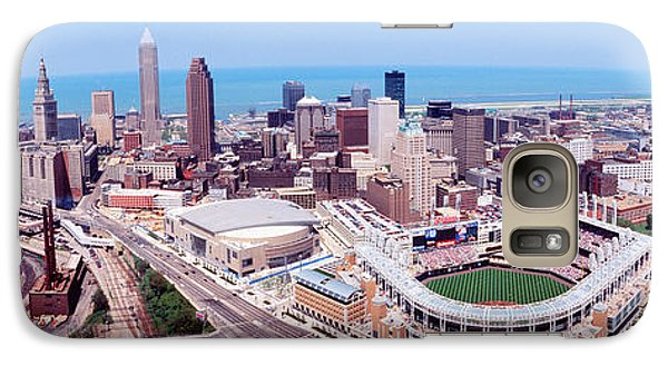 Aerial View Of Jacobs Field, Cleveland Galaxy S7 Case by Panoramic Images