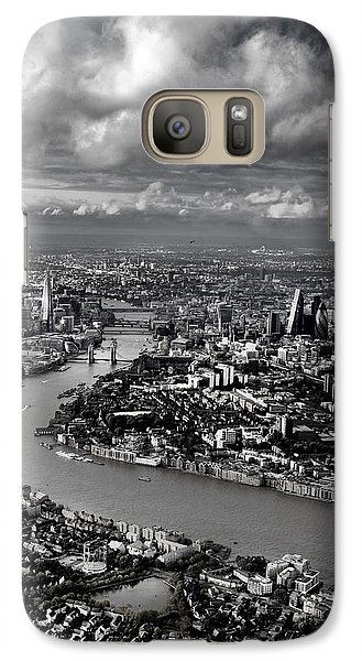 Aerial View Of London 4 Galaxy Case by Mark Rogan