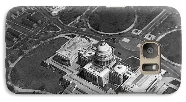 Aerial View Of U.s. Capitol Galaxy S7 Case by Underwood Archives