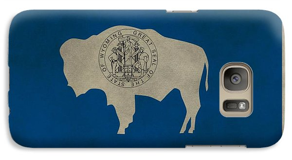 Aged Wyoming State Flag Galaxy Case by Dan Sproul